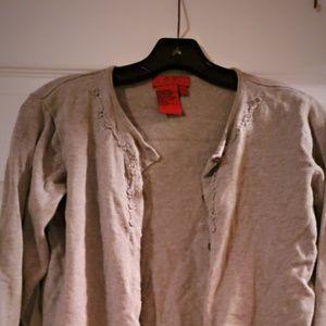 BCBG Grey 2 piece cardigan set